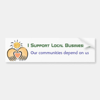 Apoyo a empresas de la comunidad pegatina de parachoque