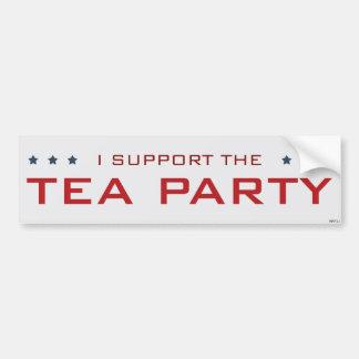 Apoyo a la fiesta del té pegatina de parachoque