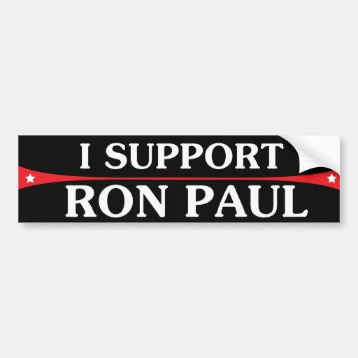 Apoyo a la pegatina para el parachoques de Ron Pau Etiqueta De Parachoque
