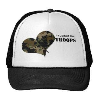 Apoyo a las tropas gorro