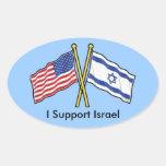 Apoyo a los pegatinas de Israel Pegatina Ovaladas Personalizadas