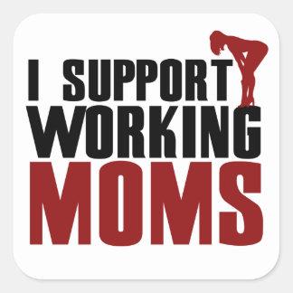Apoyo a mamáes de funcionamiento colcomanias cuadradas