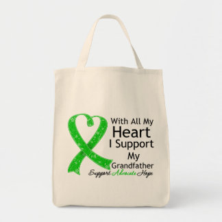 Apoyo a mi abuelo con todo mi corazón bolsa tela para la compra