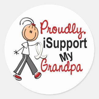 Apoyo a mi abuelo SFT (el cáncer del hueso/de Etiquetas Redondas