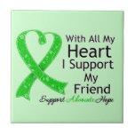 Apoyo a mi amigo con todo mi corazón teja  ceramica
