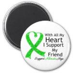 Apoyo a mi amigo con todo mi corazón imán de nevera