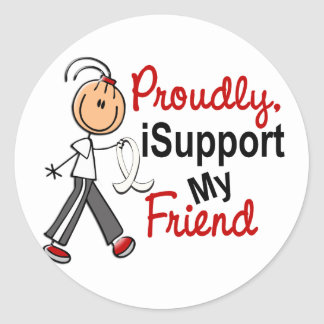 Apoyo a mi amigo SFT (el cáncer del hueso/de Pegatina Redonda
