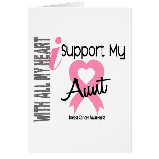Apoyo a mi cáncer de la tía pecho felicitacion
