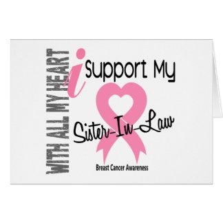 Apoyo a mi cáncer de pecho de la cuñada tarjeta de felicitación
