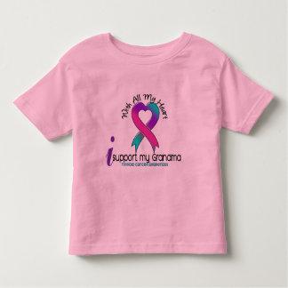 Apoyo a mi cáncer de tiroides de la abuela playera de bebé