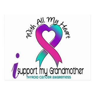 Apoyo a mi cáncer de tiroides de la abuela postal