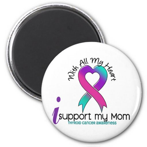 Apoyo a mi cáncer de tiroides de la mamá imán redondo 5 cm