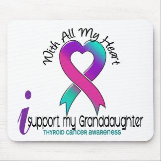 Apoyo a mi cáncer de tiroides de la nieta mouse pads