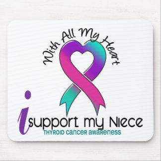 Apoyo a mi cáncer de tiroides de la sobrina alfombrillas de raton