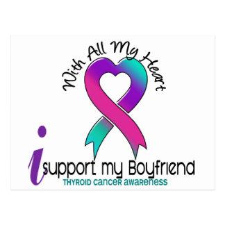 Apoyo a mi cáncer de tiroides del novio tarjeta postal