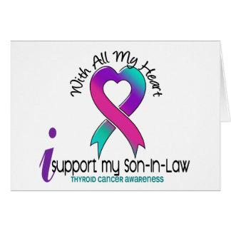 Apoyo a mi cáncer de tiroides del yerno tarjeta de felicitación