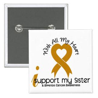 Apoyo a mi cáncer del apéndice de la hermana pin cuadrado
