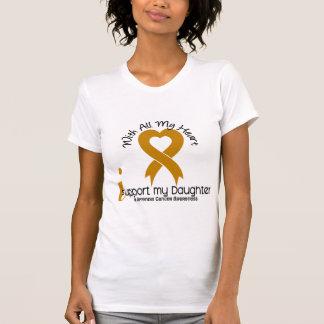 Apoyo a mi cáncer del apéndice de la hija camisetas
