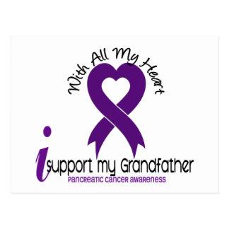 Apoyo a mi cáncer pancreático de abuelo postales