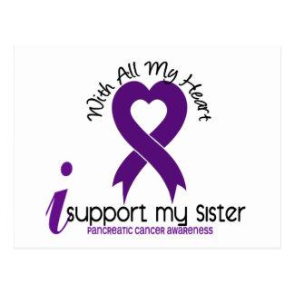 Apoyo a mi cáncer pancreático de la hermana tarjetas postales