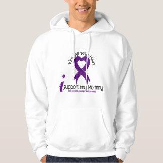 Apoyo a mi cáncer pancreático de la mamá sudadera encapuchada