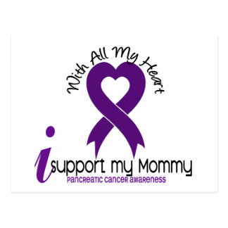 Apoyo a mi cáncer pancreático de la mamá tarjeta postal