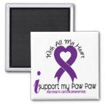Apoyo a mi cáncer pancreático de la pata de la pat iman para frigorífico