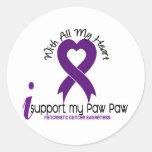 Apoyo a mi cáncer pancreático de la pata de la etiquetas redondas