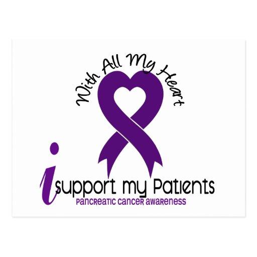Apoyo a mi cáncer pancreático de los pacientes tarjetas postales
