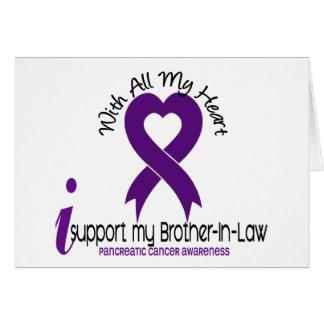 Apoyo a mi cáncer pancreático del cuñado tarjeta de felicitación