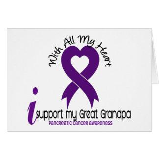 Apoyo a mi cáncer pancreático del gran abuelo tarjetas