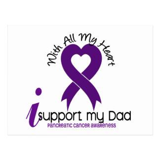 Apoyo a mi cáncer pancreático del papá tarjetas postales