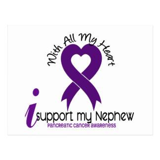 Apoyo a mi cáncer pancreático del sobrino tarjeta postal