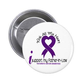 Apoyo a mi cáncer pancreático del suegro pin redondo de 2 pulgadas