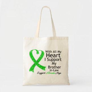 Apoyo a mi cuñado con todo mi corazón bolsa tela barata
