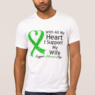 Apoyo a mi esposa con todo mi corazón playera