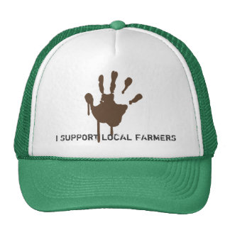 Apoyo a mi granjero local gorras de camionero