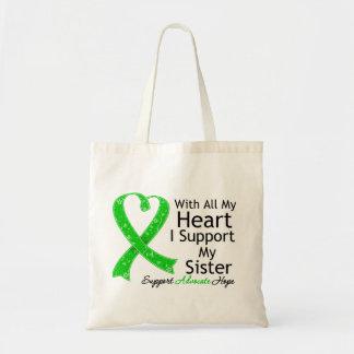 Apoyo a mi hermana todo mi corazón bolsa tela barata