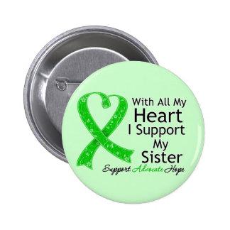 Apoyo a mi hermana todo mi corazón pin redondo 5 cm