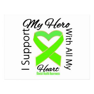 Apoyo a mi héroe - conciencia de la salud mental postal