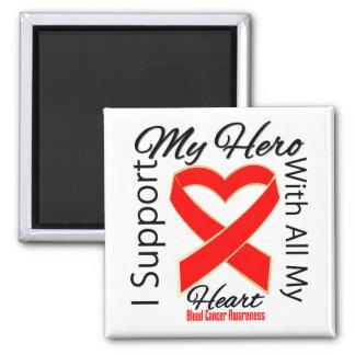 Apoyo a mi héroe - conciencia del cáncer de sangre imán de nevera