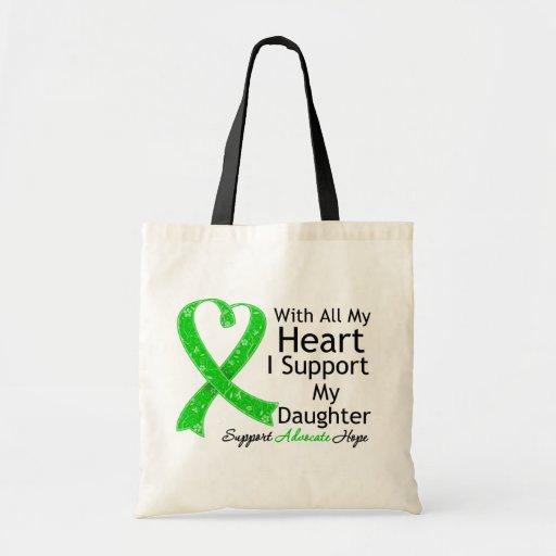 Apoyo a mi hija con todo mi corazón bolsa tela barata