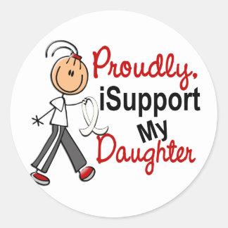 Apoyo a mi hija SFT (el cáncer del hueso/de Pegatinas Redondas