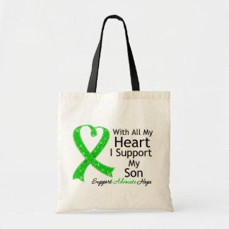 Apoyo a mi hijo todo mi corazón bolsa tela barata