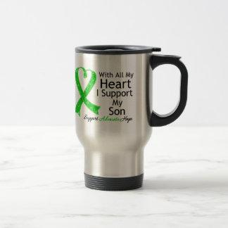 Apoyo a mi hijo todo mi corazón tazas de café