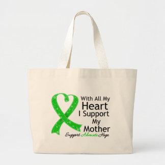 Apoyo a mi madre con todo mi corazón bolsa tela grande