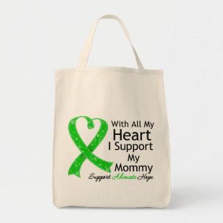 Apoyo a mi mamá con todo mi corazón bolsa tela para la compra