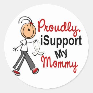 Apoyo a mi mamá SFT el cáncer del hueso de pulmón Pegatina