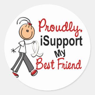Apoyo a mi mejor amigo SFT (el cáncer del hueso/de Etiquetas Redondas