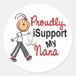 Apoyo a mi Nana SFT (el cáncer del hueso/de Pegatina Redonda